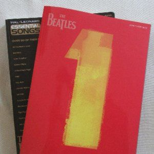 Two Beatles Song Books (piano, vocal, guitar) NEW